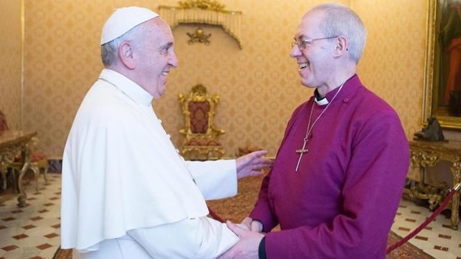 Papa e Arcebispo de Cantuária juntos contra tráfico humano