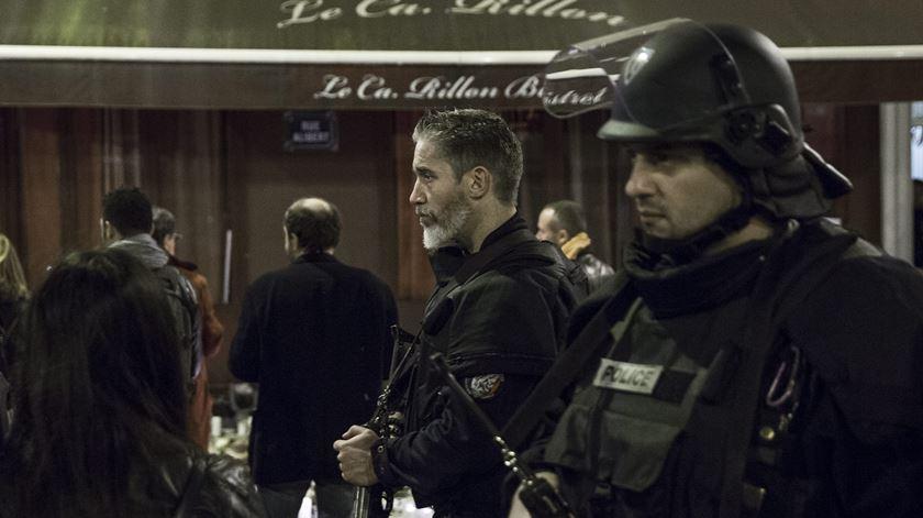 A polícia francesa evitou um atentado no passado fim-de-semana Foto: EPA/Etienne Laurent