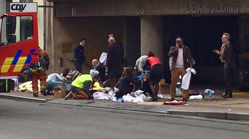 Bruxelas.Terceira explosão faz dezenas de mortos e feridos