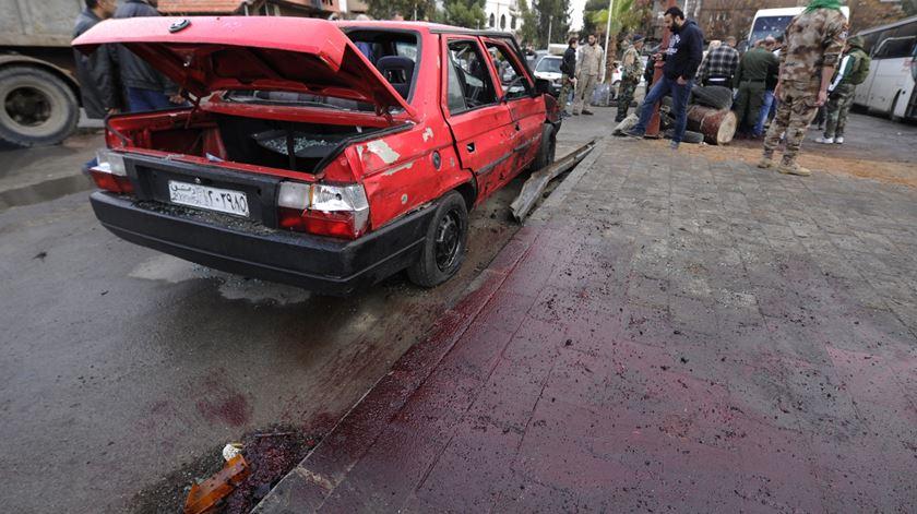Atentado em Damasco, Síria. Foto: Youssef Bada/EPA