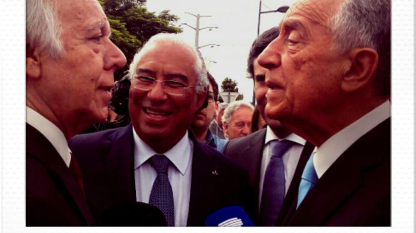 Marcelo, Costa e Carlos do Carmo. Foto: DR