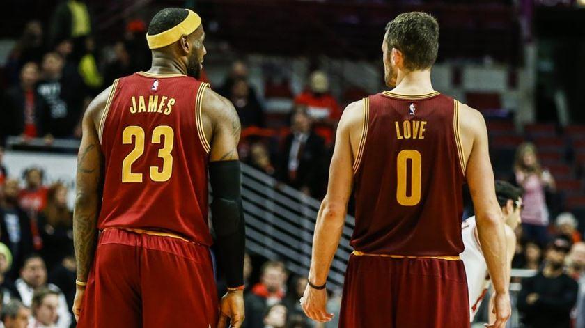 """LeBron e Love voltaram a ser o """"big-2"""" de Cleveland. Foto: DR"""