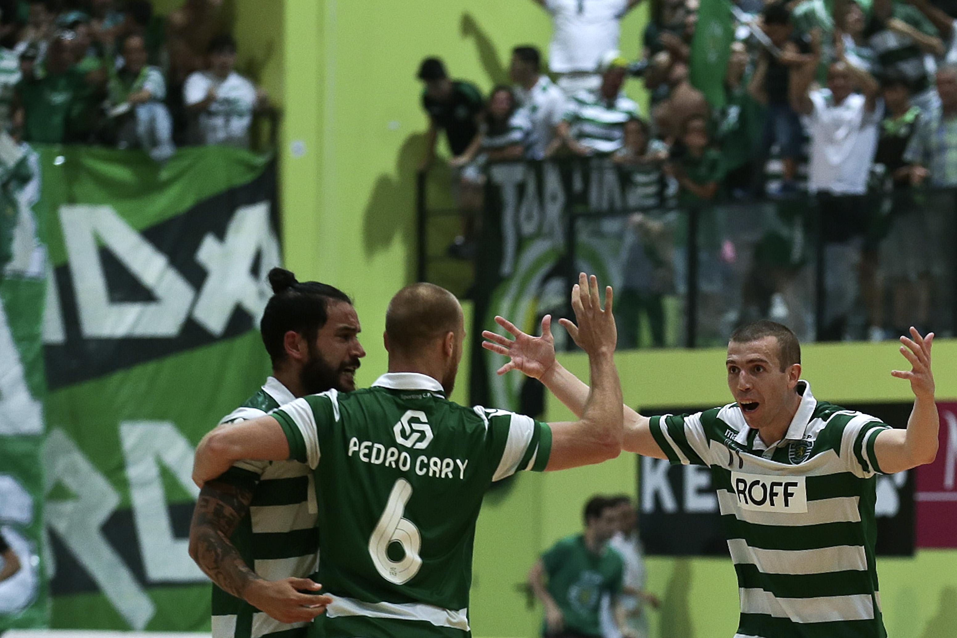 Sporting recebe grupo da Ronda de Elite da UEFA Futsal Cup. Foto  António  Cotrim Lusa 34afa70d2c84f