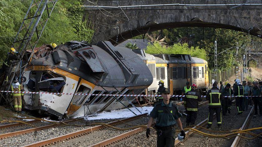 Acidente de comboio na Galiza. Há quatro mortos, um deles é português