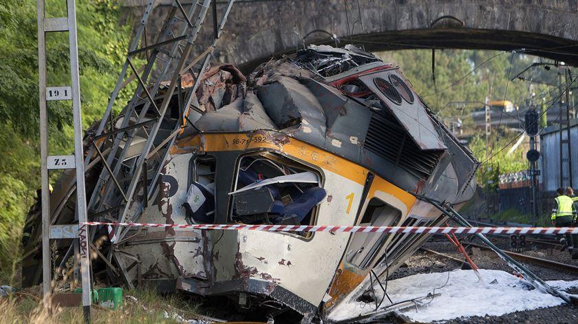 """""""Falta de atenção"""" de condutor português provocou acidente de comboio na Galiza"""