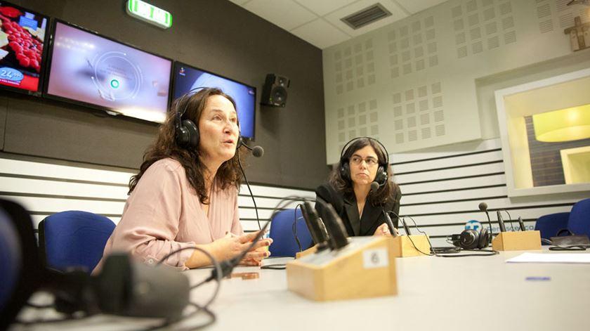 Alda Martins (à esquerda) e Alexandra Machado resumem 20 anos da história da PT. Fotos: Ricardo Fortunato/RR