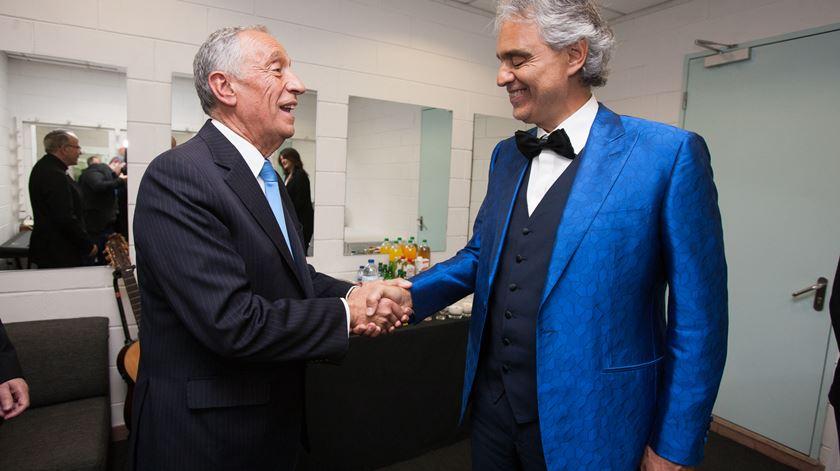 O que disse Marcelo a Andrea Bocelli?