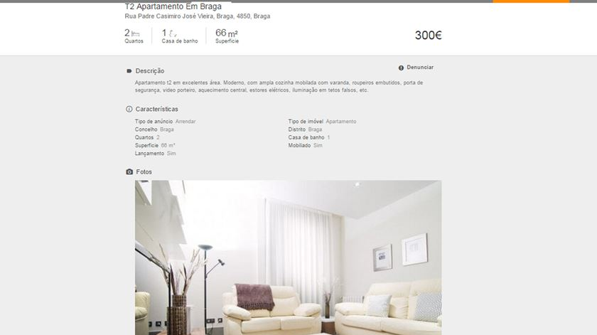 75728e232d2 Suposto apartamento em Vieira do Minho é na realidade um luxuoso hotel em  Madrid
