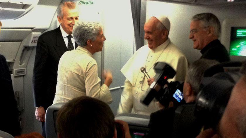A conversa da vaticanista Aura Miguel com o Papa Francisco