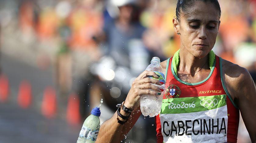 Ana Cabecinha na prova de marcha dos Jogos Olimpicos do Rio de Janeiro. Foto: António Cotrim/Lusa