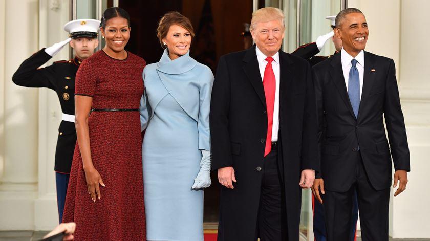 Obama e Trump. Um último chá na Casa Branca