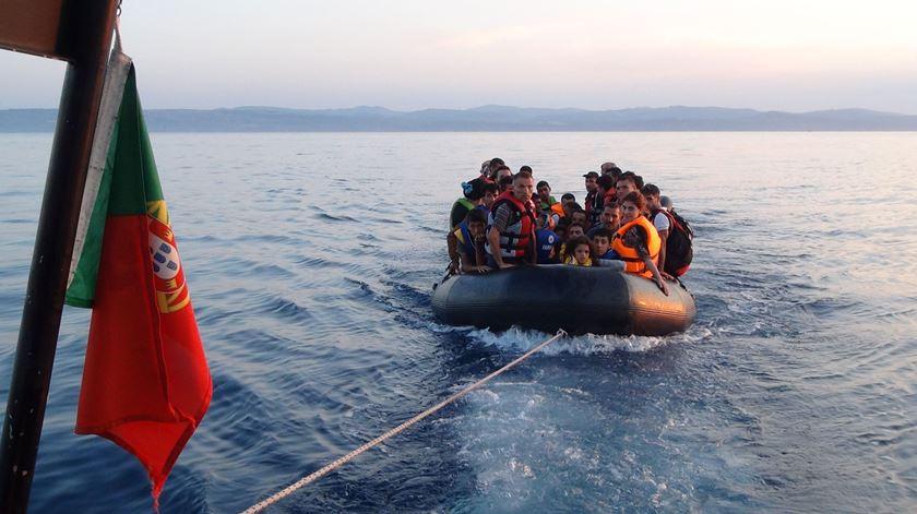 A GNR tem salvo centenas de pessoas no Mediterrâneo. Foto: GNR