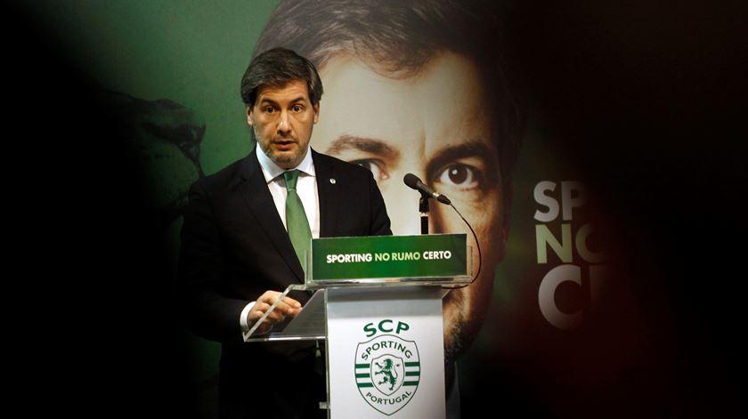 Bruno de Carvalho cada vez mais isolado. Foto: António Pedro Santos/Lusa
