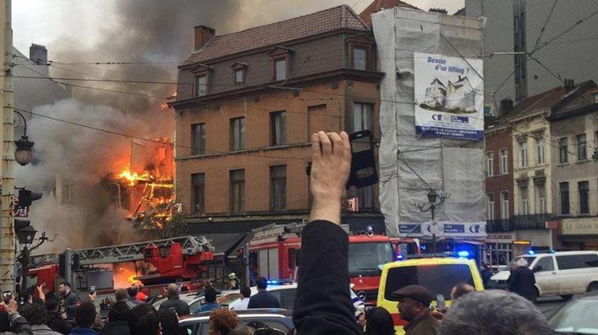 Explosão em Bruxelas faz sete feridos