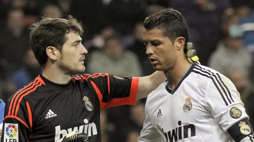 Casillas e Ronaldo jogaram juntos no Real Madrid. Foto: DR