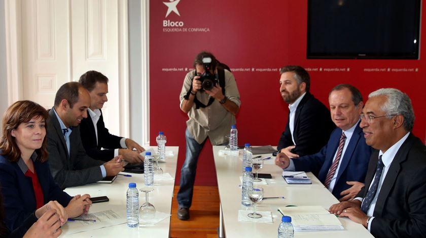 Costa reuniu-se esta segunda-feira com Catarina Martins. Foto: Tiago Petinga/Lusa