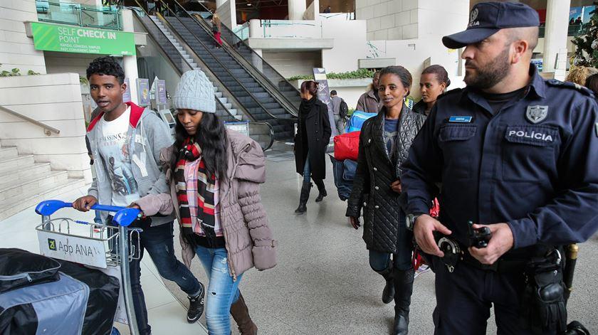 Chegaram a Portugal 33 refugiados provenientes do Egito