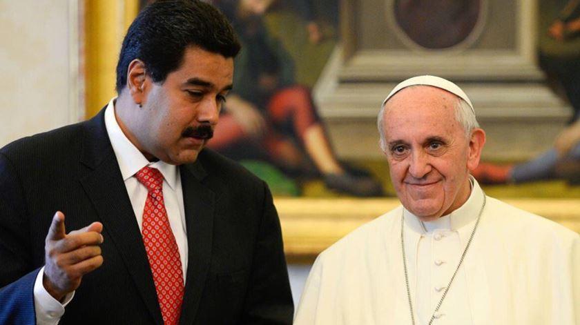 O Papa Francisco admite estar desiludido com Maduro. Foto: Twitter