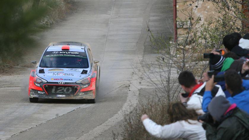 Dani Sordo lidera o Rali de Portugal. Foto: EPA