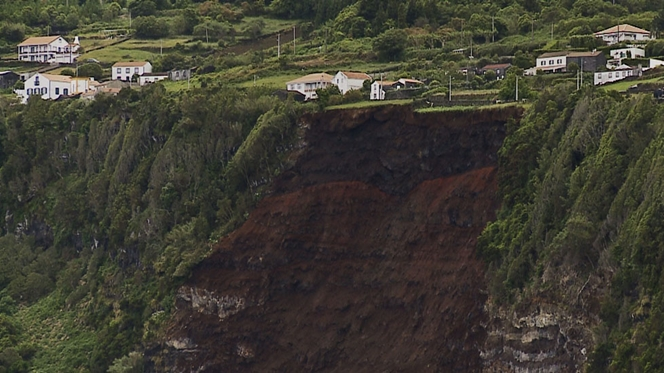 Derrocada faz mais de 30 desalojados nos Açores