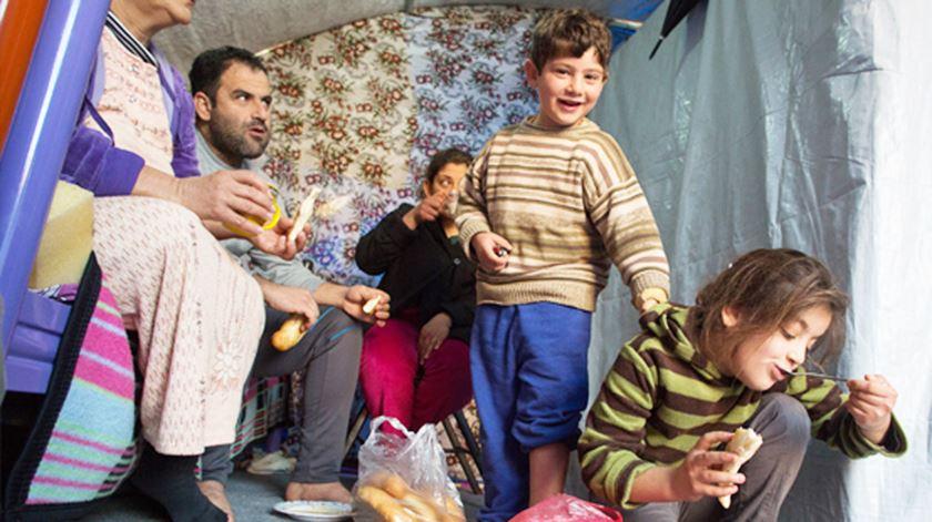 Refugiados cristãos em Erbil. Foto: AIS