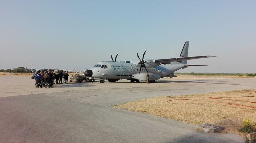 Partida da Força Aérea para combater os incêndios na Madeira. Foto: Força Aérea
