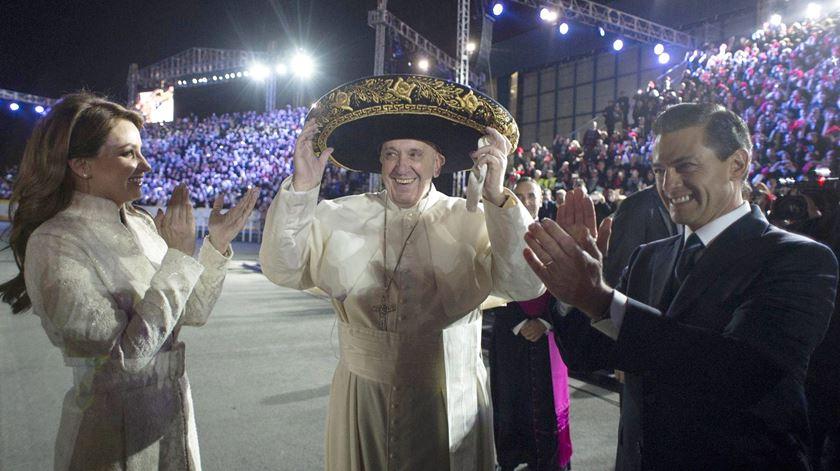 Fotogaleria. Papa missionário no México entre alertas, conselhos e bençãos
