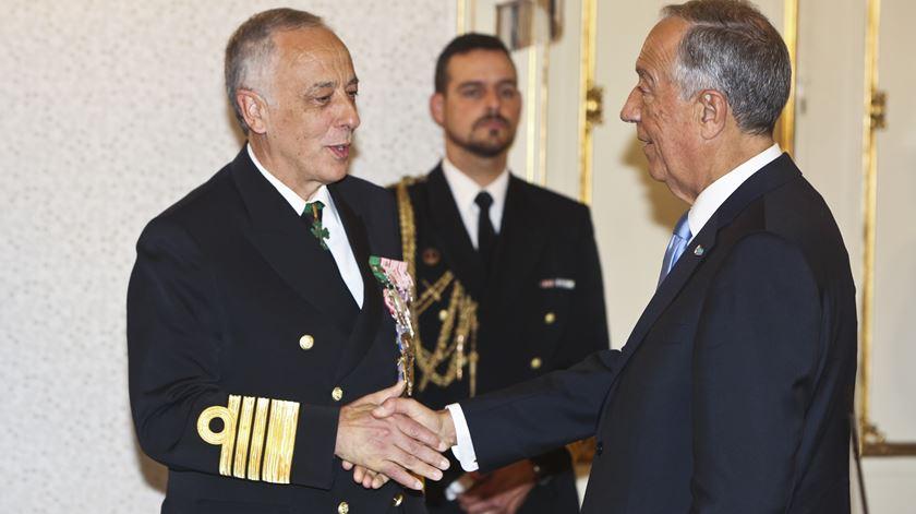 Almirante Antonio Silva Ribeiro e Marcelo Rebelo de Sousa em Belém. Foto: Nuno Fox/Lusa