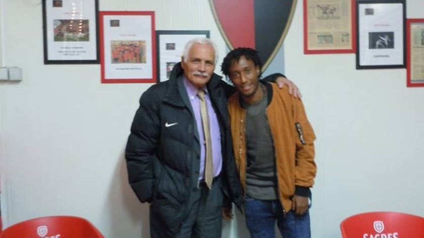 Gelson Martins voltou ao Futebol Benfica, clube que o formou Foto: Facebook