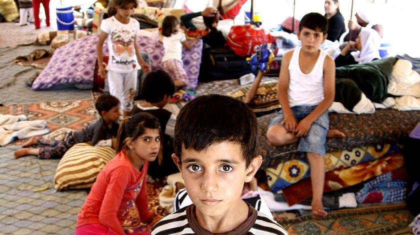 Membros da comunidade yazidi, no Iraque, entre os beneficiários da campanha de 2017. Foto: DR