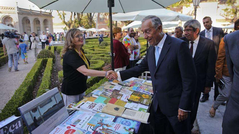 Marcelo na Festa do Livro de Belém. Foto: José Sena Goulão/Lusa