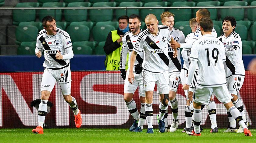 Legia Varsóvia recuperou de desvantagem de dois golos. Foto: EPA