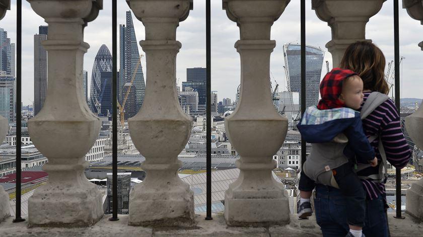 Na City, o coração financeiro de Londres, defende-se o acesso ao mercado livre europeu. Foto: Hannah McKay/EPA