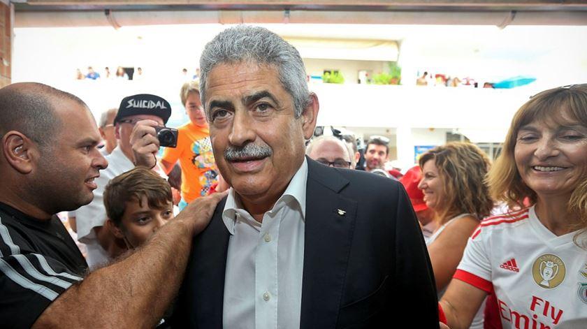 """Luís Filipe Vieira assinalou """"bodas de diamante"""" do jornal """"O Benfica"""". Foto: Lusa"""
