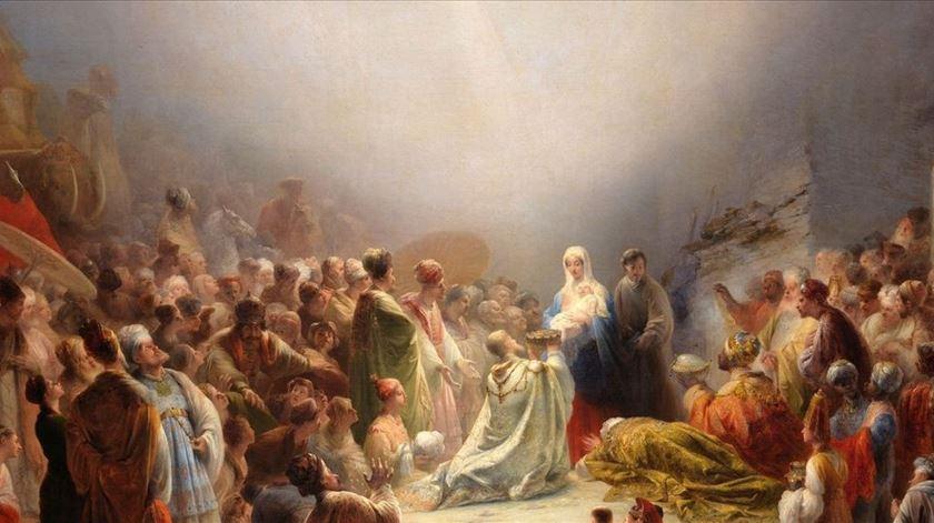 Pormenor do quadro Adoração dos Magos de Domingos Sequeira. Foto: DR