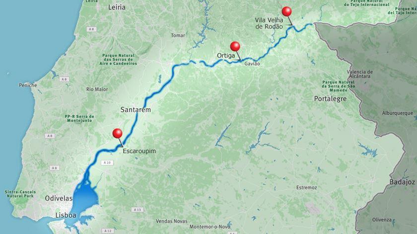 Escaroupim (Salvaterra de Magos), Ortiga (Mação) e Via Velha de Rodão (Castelo Branco): os três pontos da reportagem da Renascença