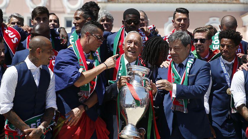O discurso de Marcelo aos campeões europeus