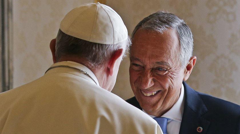 Marcelo esteve meia hora reunido com o Papa