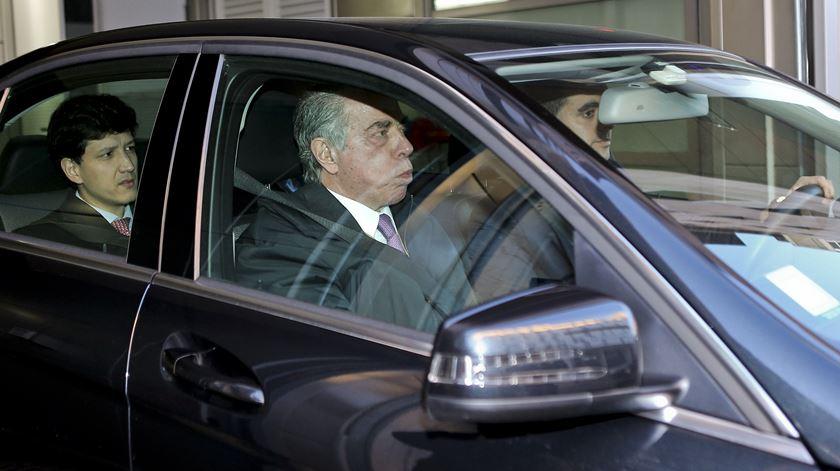 Ricardo Salgado depois do interrogatório com Rosário Teixeira. Foto: Miguel A. Lopes/Lusa