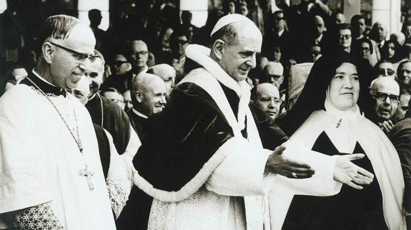 A primeira vez que Fátima recebeu um Papa