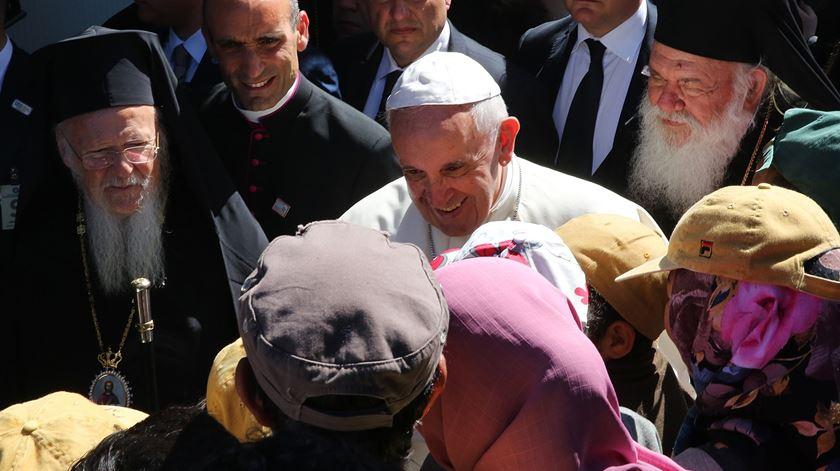 Depois de manhã emotiva, Papa desloca-se ao porto de Lesbos