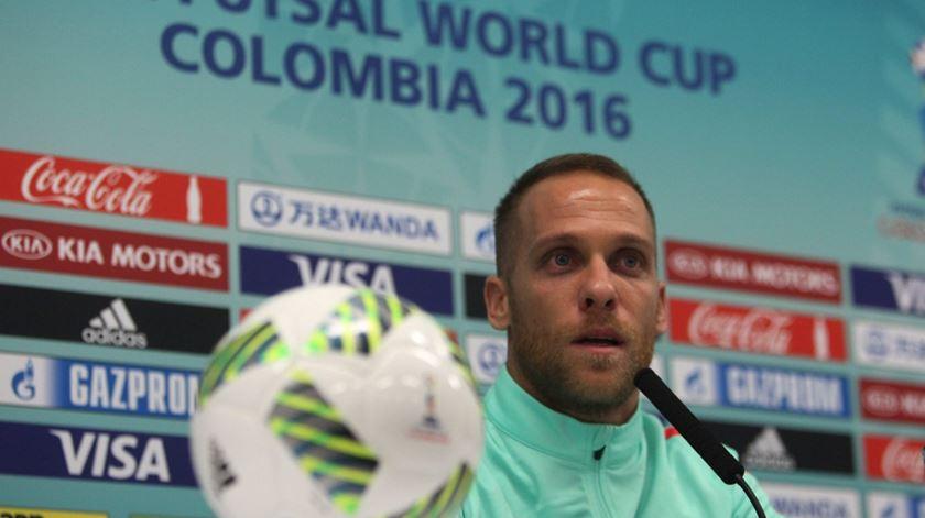 O internacional português Pedro Cary é jogador do Sporting. Foto: Luis Eduardo Noriega/EPA