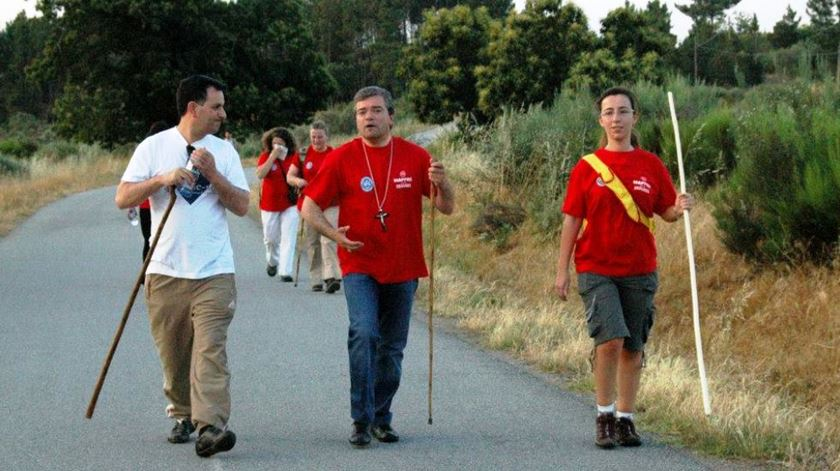 Aumentou o número de peregrinos a partir para Santiago de Compostela de Caminha. Foto: DR