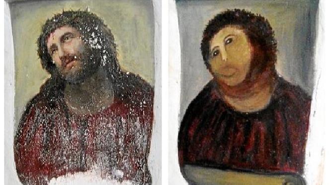 Cecília Giménez exige direitos de autor da sua obra de restauro