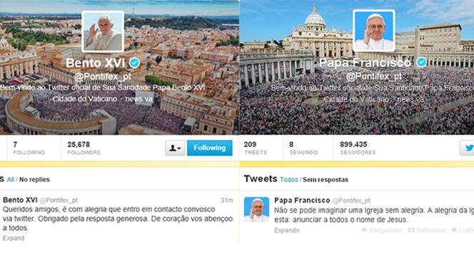 """Um ano, dois Papas, centenas de """"tweets"""""""