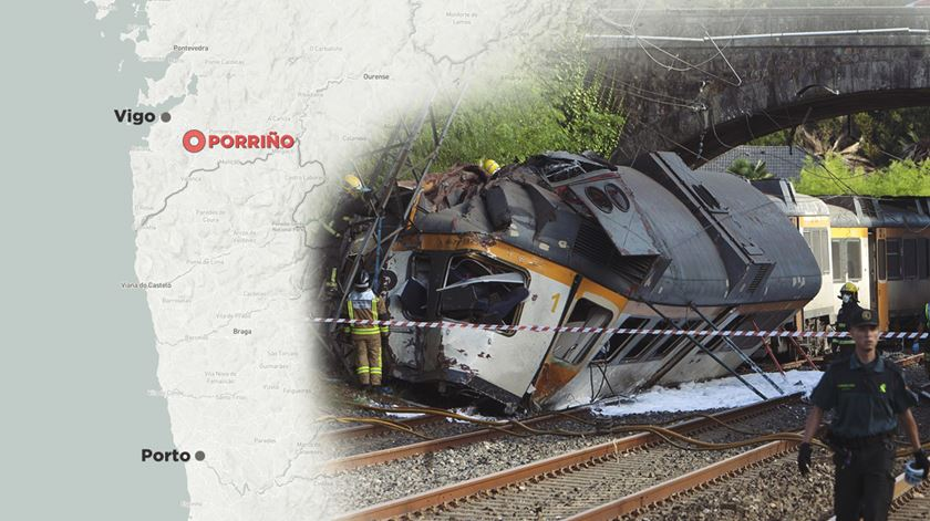 Comboio da CP descarrila na Galiza