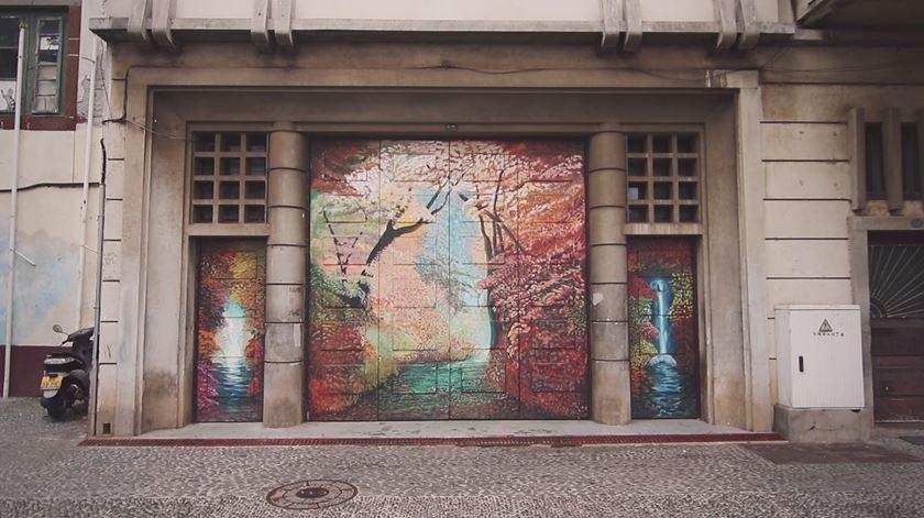 Na Madeira há uma rua que é uma galeria