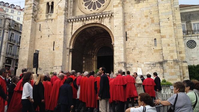 Demonstração de fé nas ruas de Lisboa