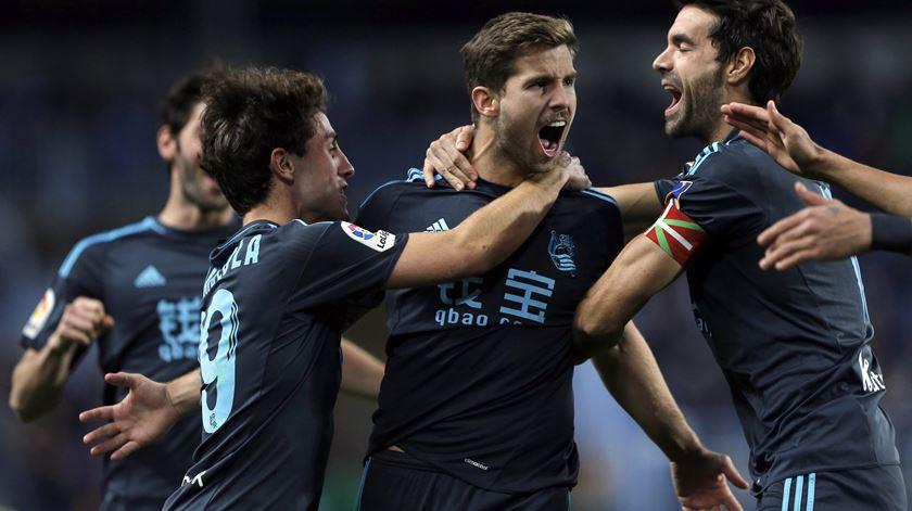Real Sociedad venceu em Sevilha. Foto: EPA.