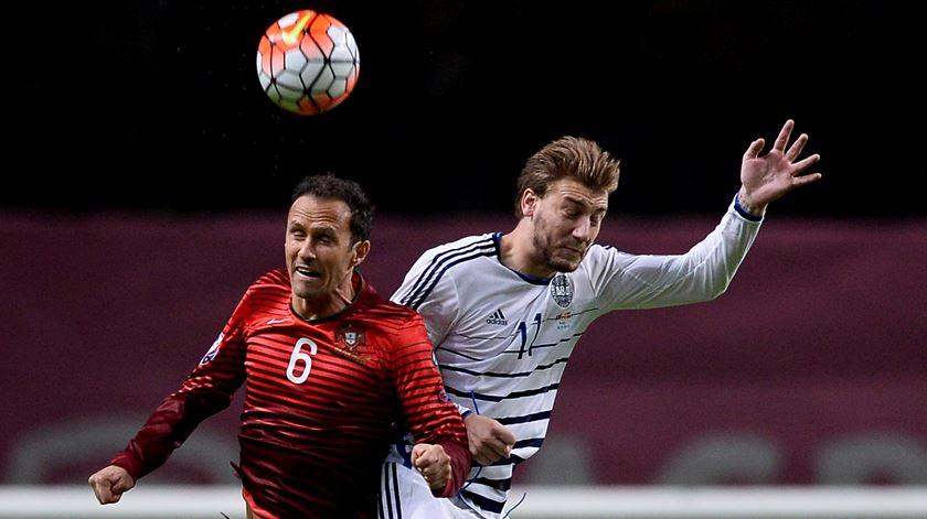 """Bendtner é """"besta negra"""" da seleção portuguesa. Foto: José Coelho/Lusa"""